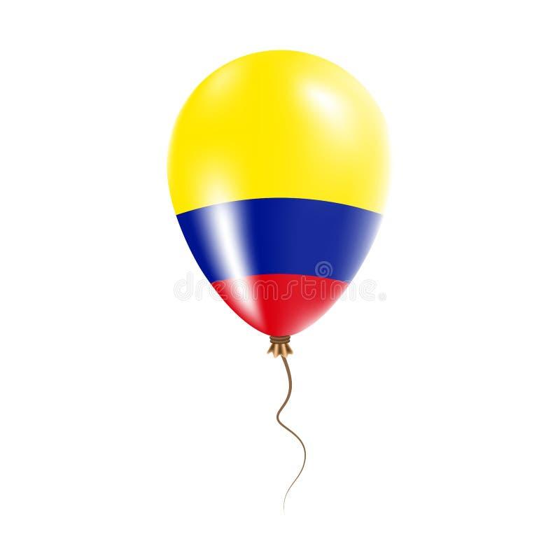 有旗子的哥伦比亚气球 皇族释放例证
