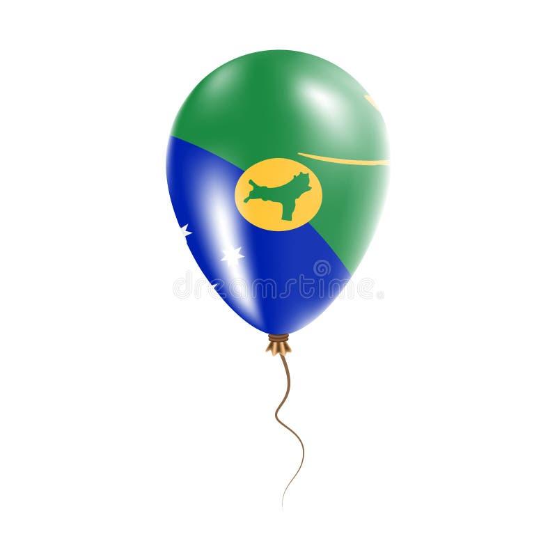 有旗子的圣诞岛气球 皇族释放例证