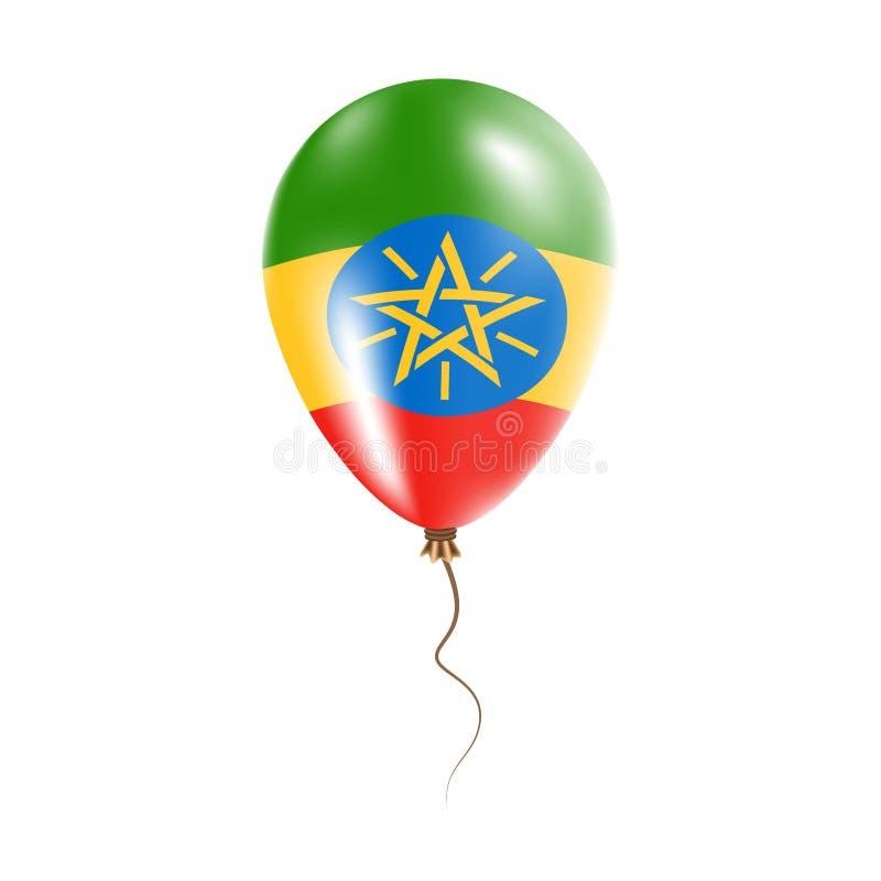 有旗子的埃塞俄比亚气球 皇族释放例证