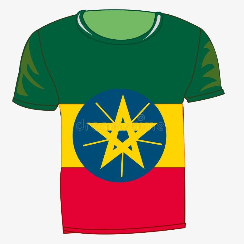 有旗子的埃塞俄比亚T恤杉 皇族释放例证