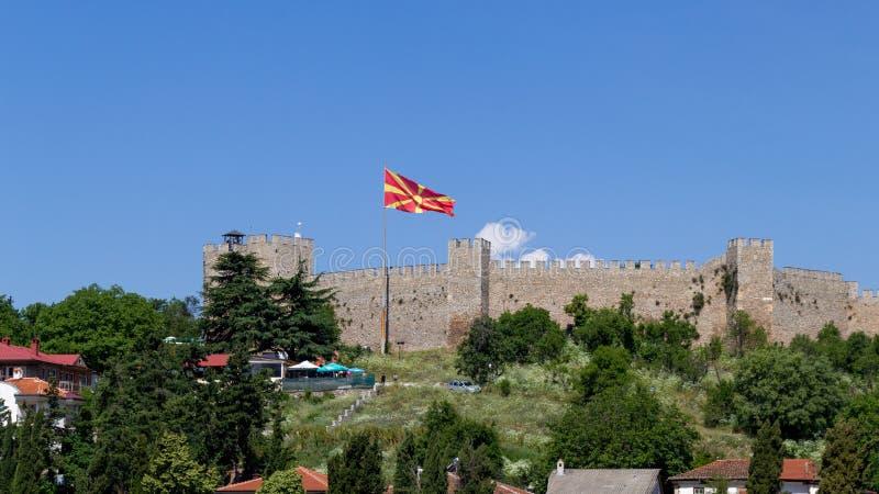 有旗子的塞缪尔的堡垒 免版税库存照片