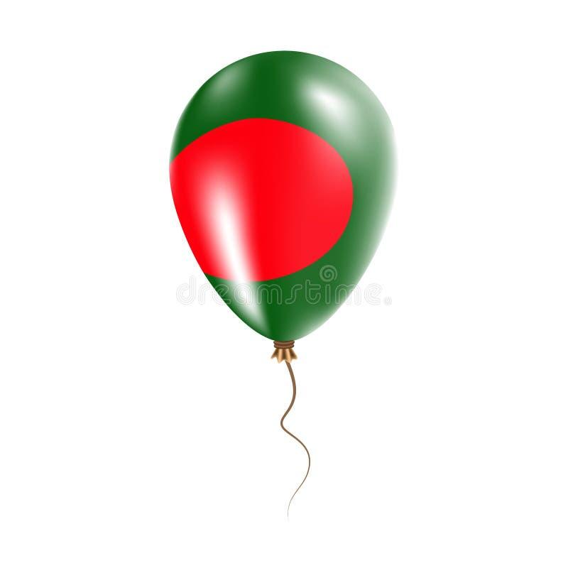 有旗子的孟加拉国气球 向量例证