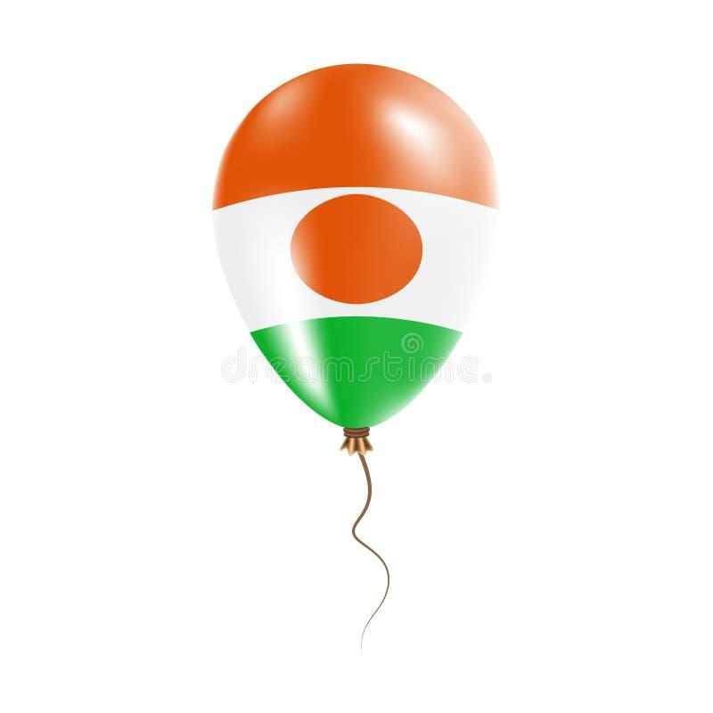 有旗子的尼日尔气球 库存例证
