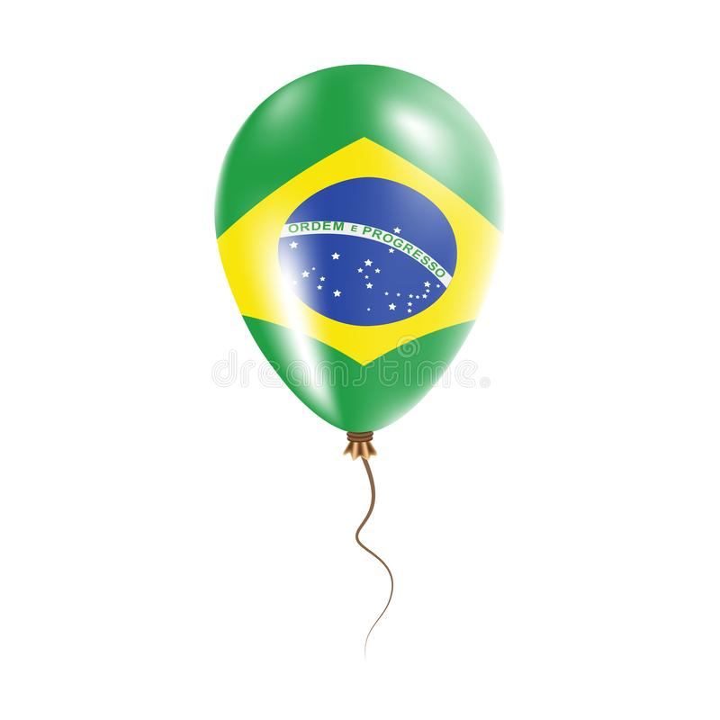 有旗子的巴西气球 库存例证