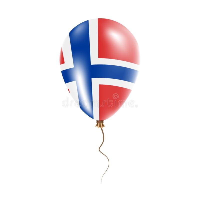 有旗子的布韦岛气球 向量例证