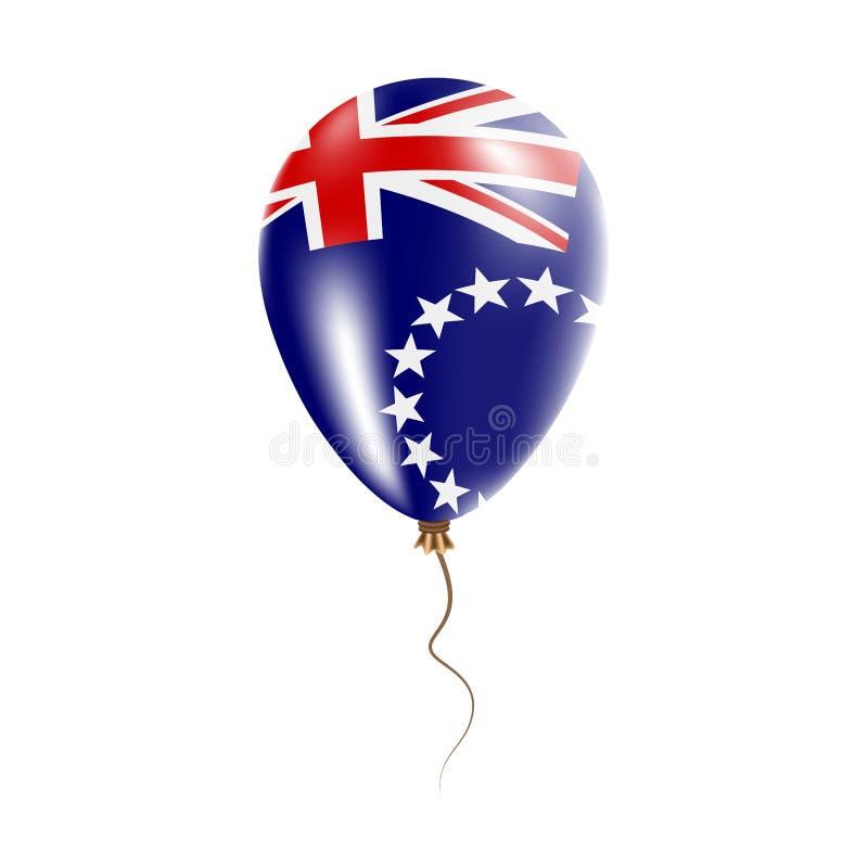 有旗子的库克群岛气球 皇族释放例证