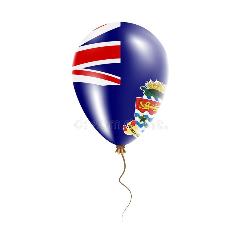 有旗子的开曼群岛气球 向量例证