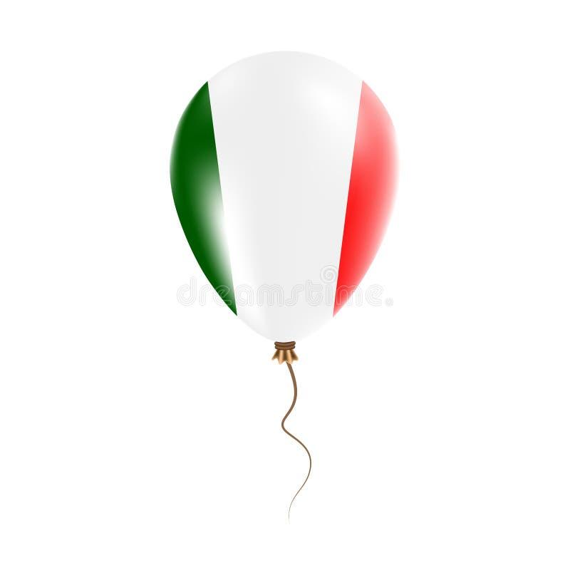 有旗子的意大利气球 库存例证