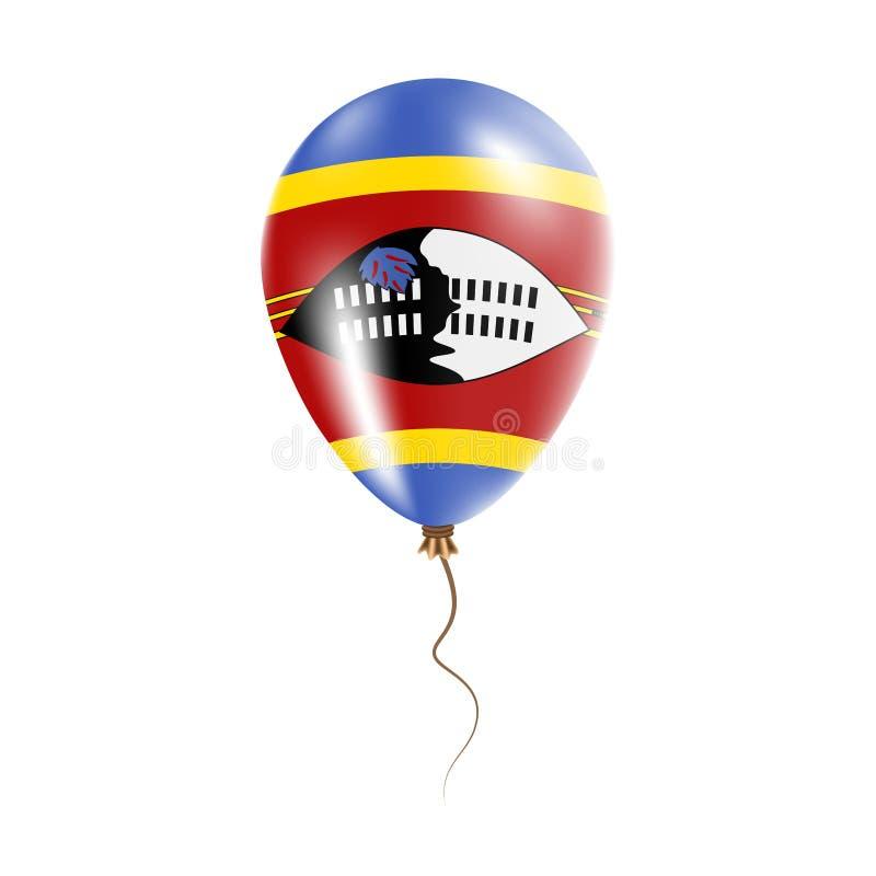 有旗子的斯威士兰气球 皇族释放例证