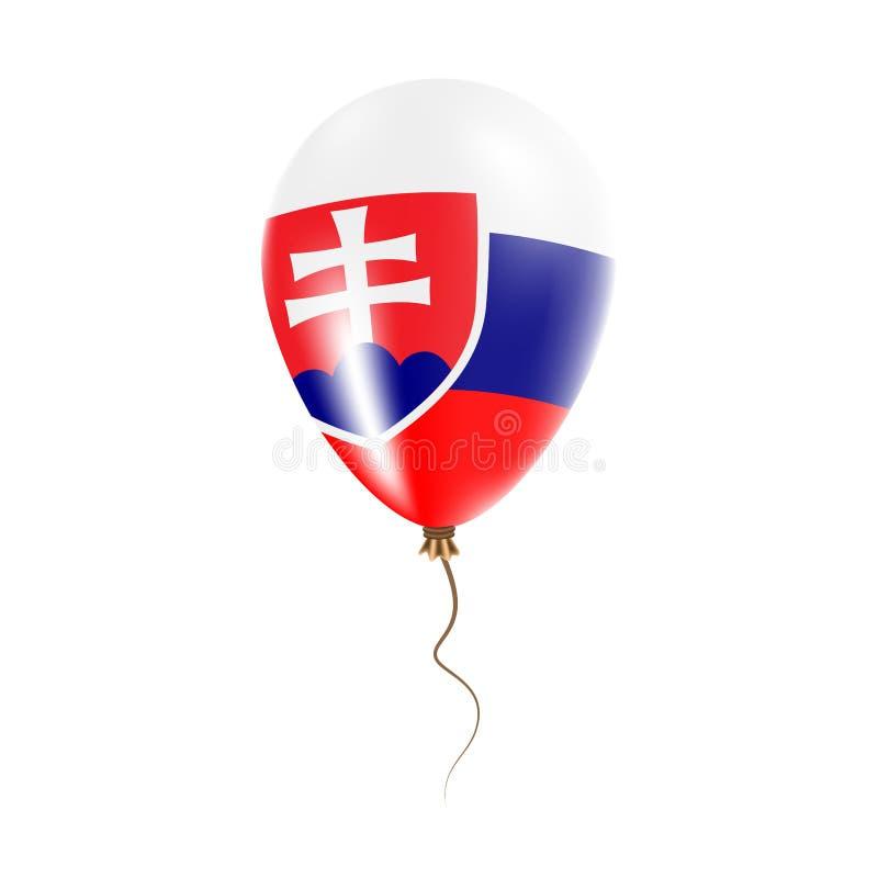 有旗子的斯洛伐克气球 皇族释放例证