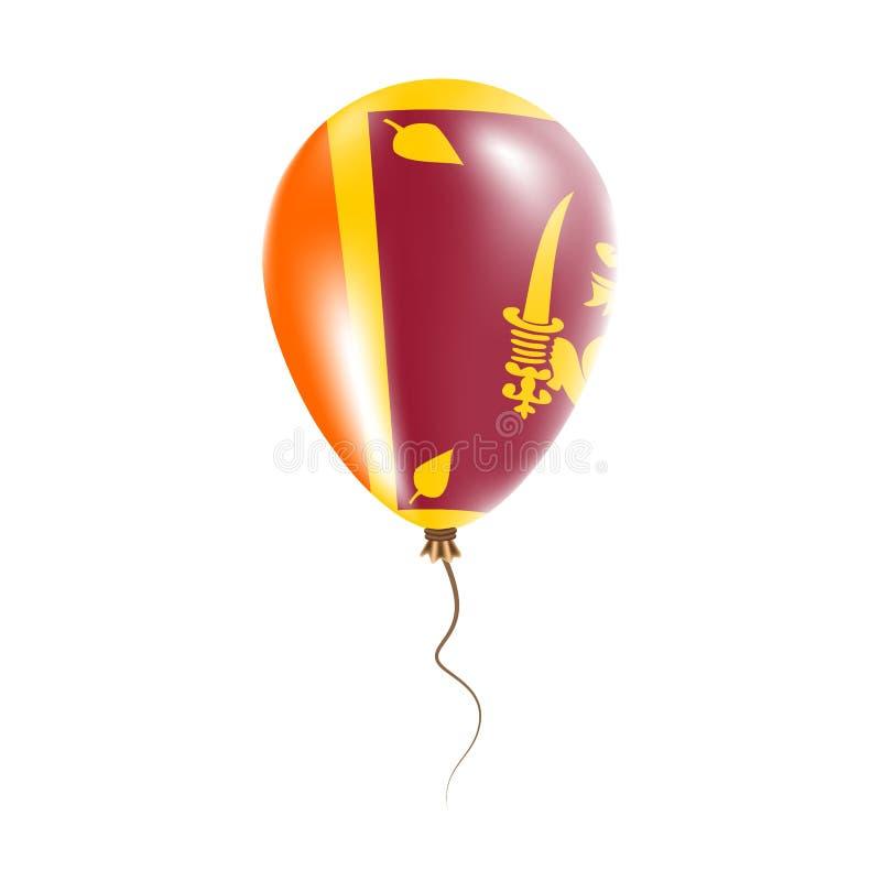 有旗子的斯里兰卡气球 向量例证