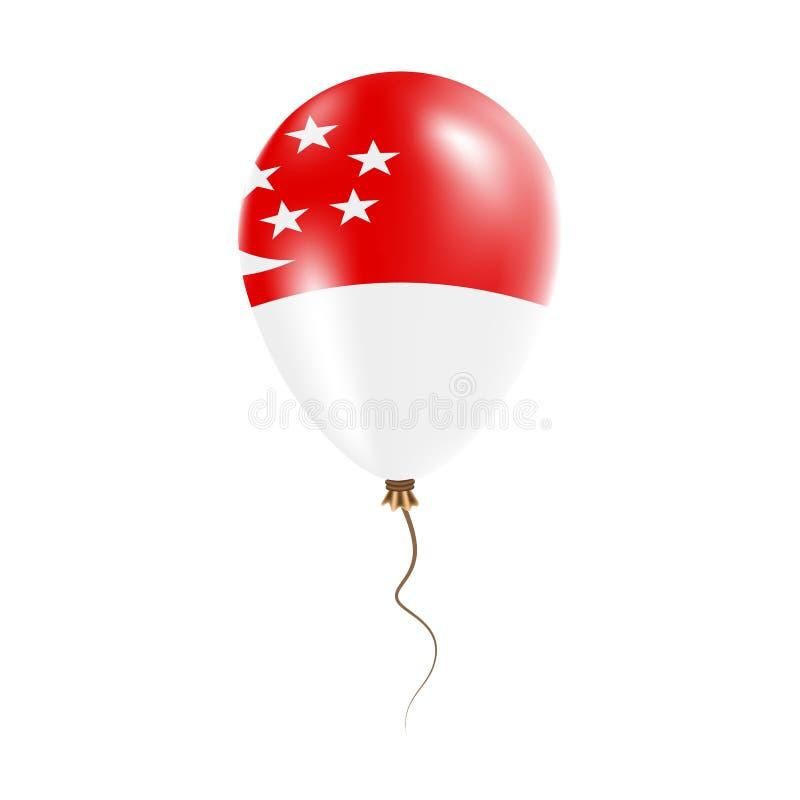 有旗子的新加坡气球 皇族释放例证