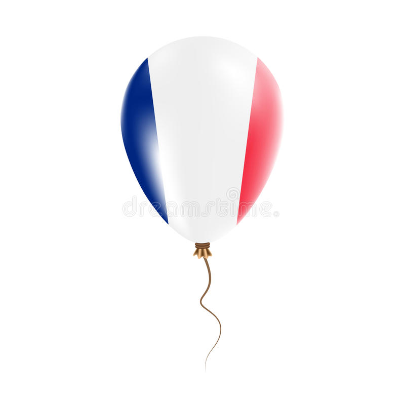 有旗子的新喀里多尼亚气球 库存例证
