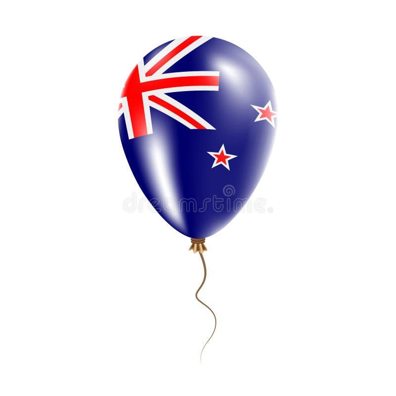 有旗子的新西兰气球 向量例证