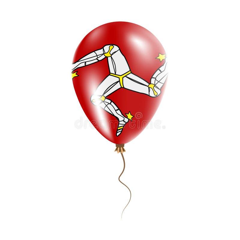 有旗子的曼岛气球 皇族释放例证