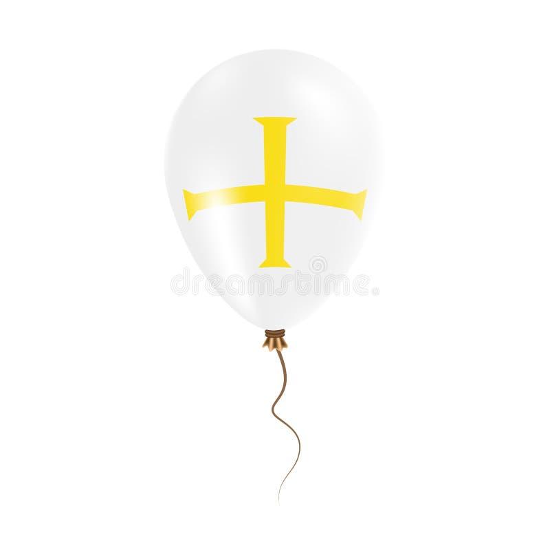 有旗子的根西岛气球 库存例证
