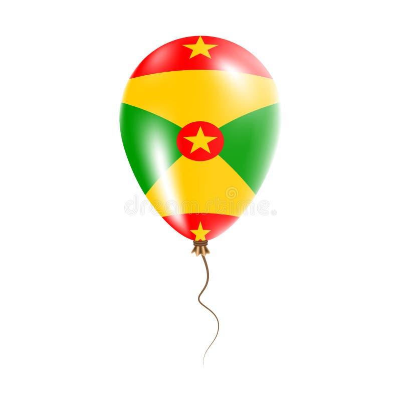 有旗子的格林纳达气球 皇族释放例证