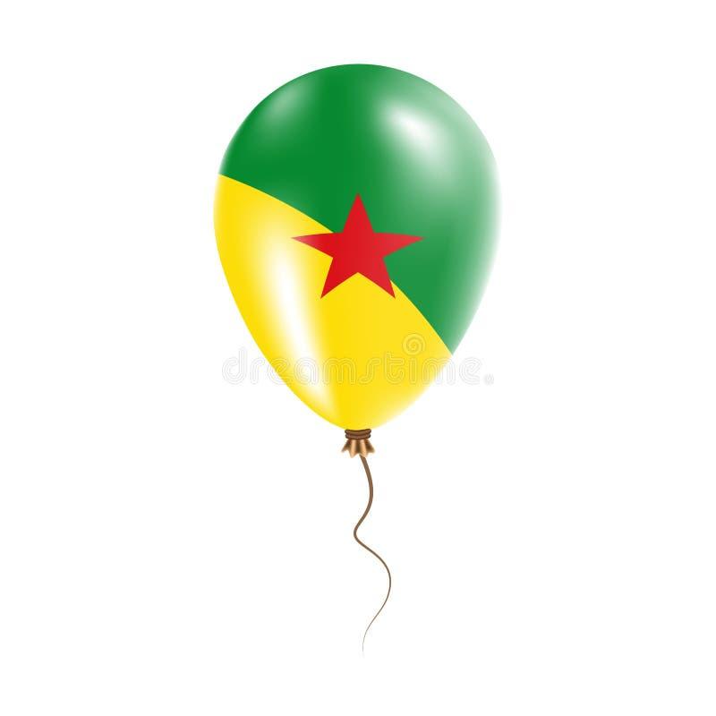有旗子的法属圭亚那气球 向量例证