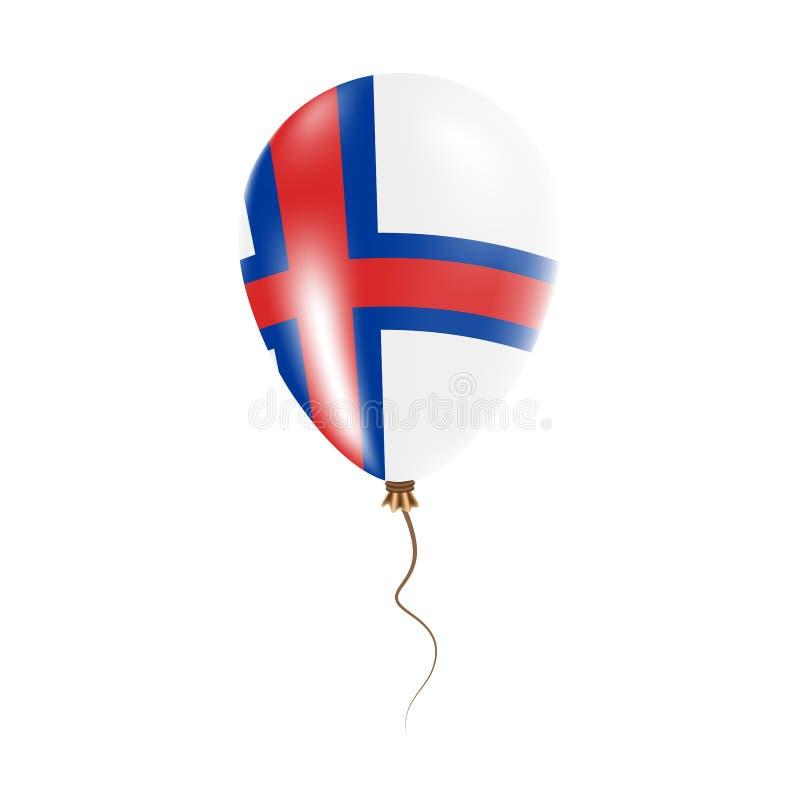 有旗子的法罗群岛气球 皇族释放例证