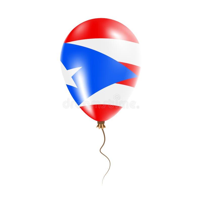 有旗子的波多黎各气球 皇族释放例证