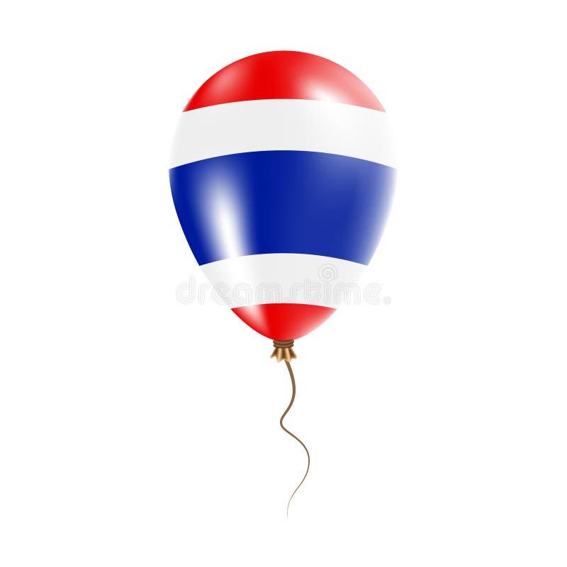 有旗子的泰国气球 皇族释放例证