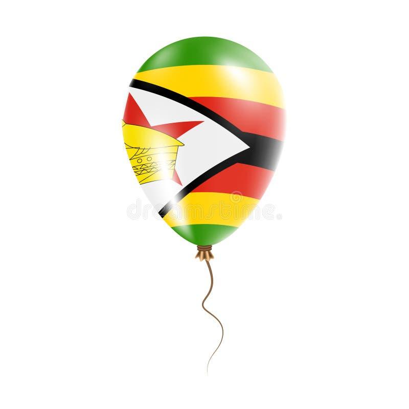 有旗子的津巴布韦气球 库存例证