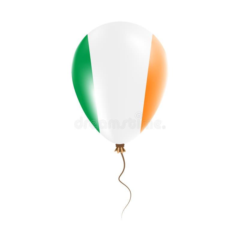 有旗子的爱尔兰气球 库存例证