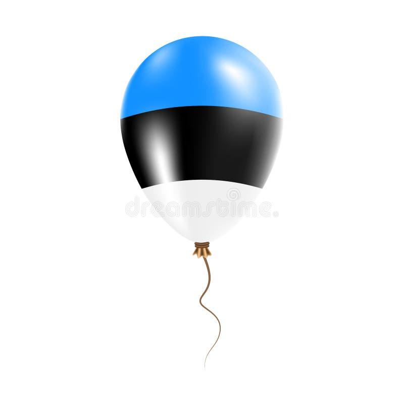 有旗子的爱沙尼亚气球 皇族释放例证