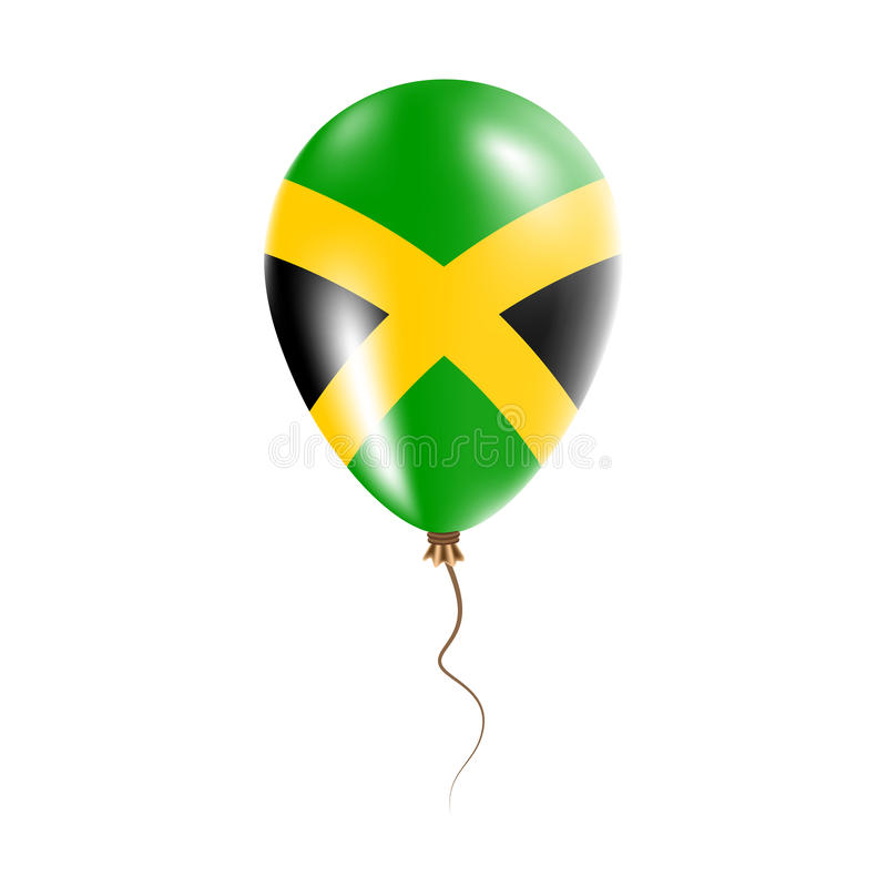 有旗子的牙买加气球 皇族释放例证