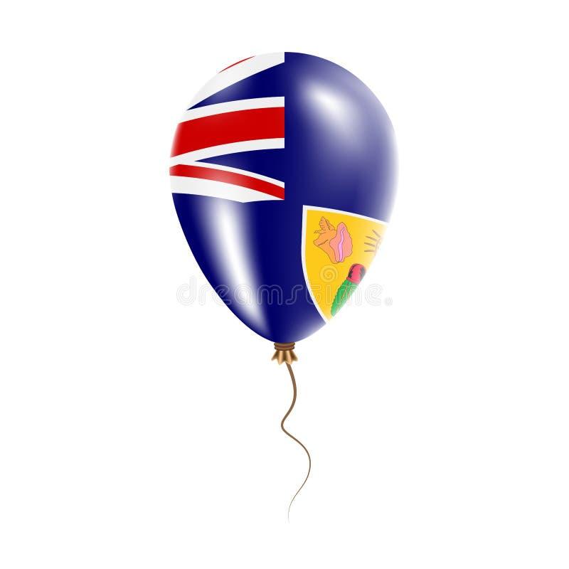 有旗子的特克斯和凯科斯群岛气球 皇族释放例证