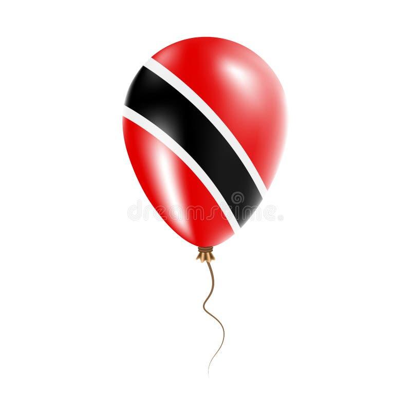 有旗子的特立尼达和多巴哥气球 皇族释放例证