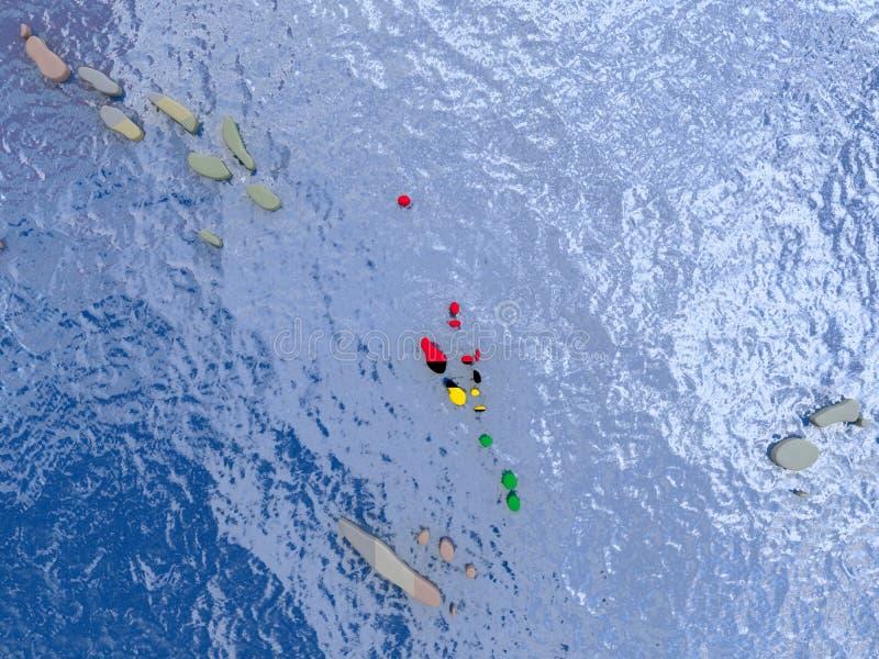 有旗子的瓦努阿图在地球 向量例证