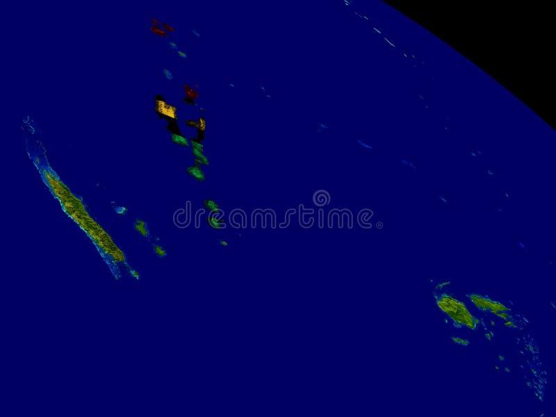 有旗子的瓦努阿图地球上 向量例证