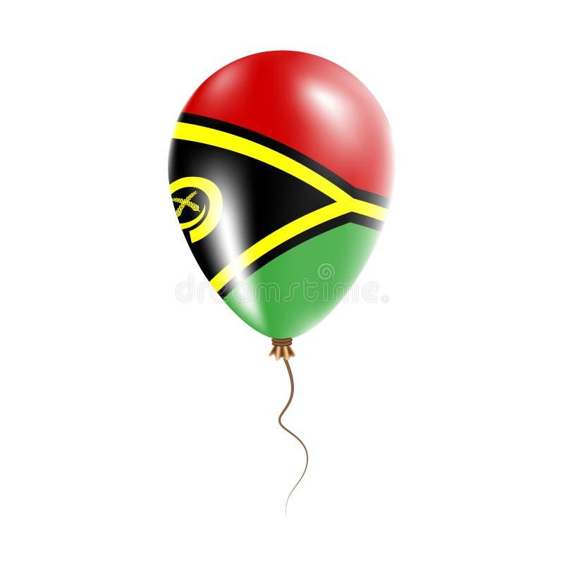 有旗子的瓦努阿图气球 库存例证