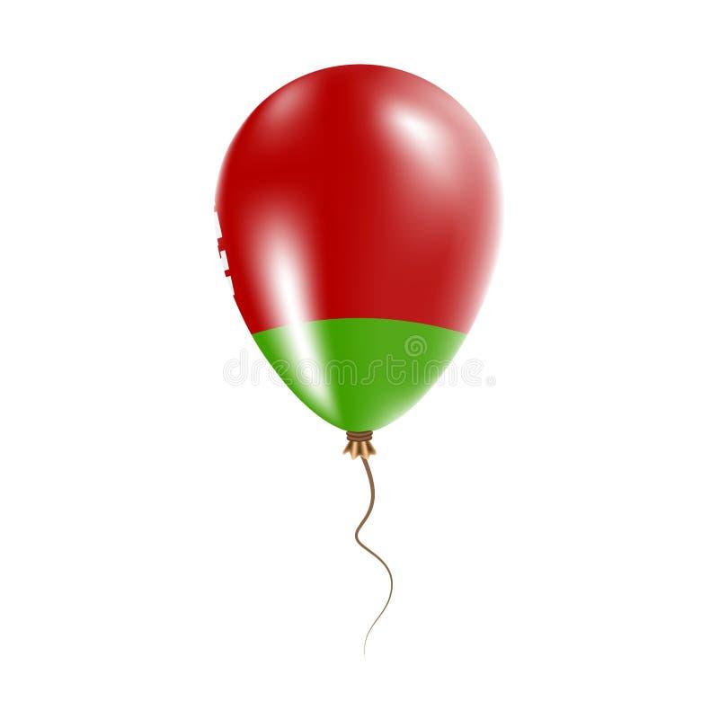 有旗子的白俄罗斯气球 向量例证
