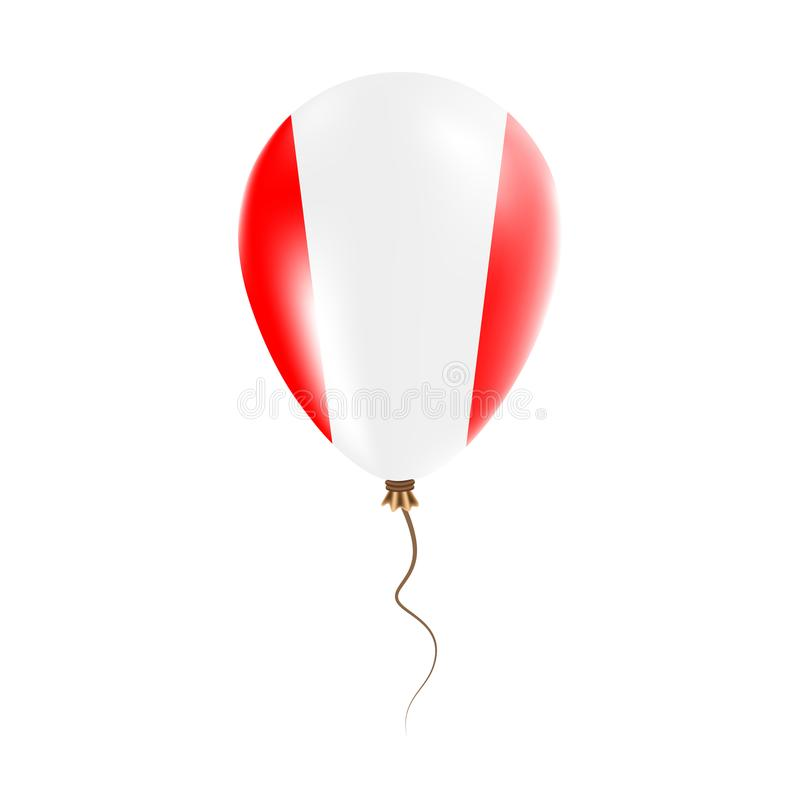 有旗子的秘鲁气球 向量例证