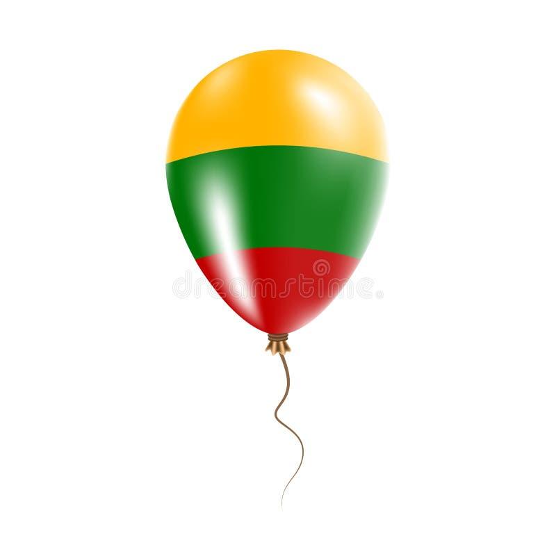 有旗子的立陶宛气球 向量例证