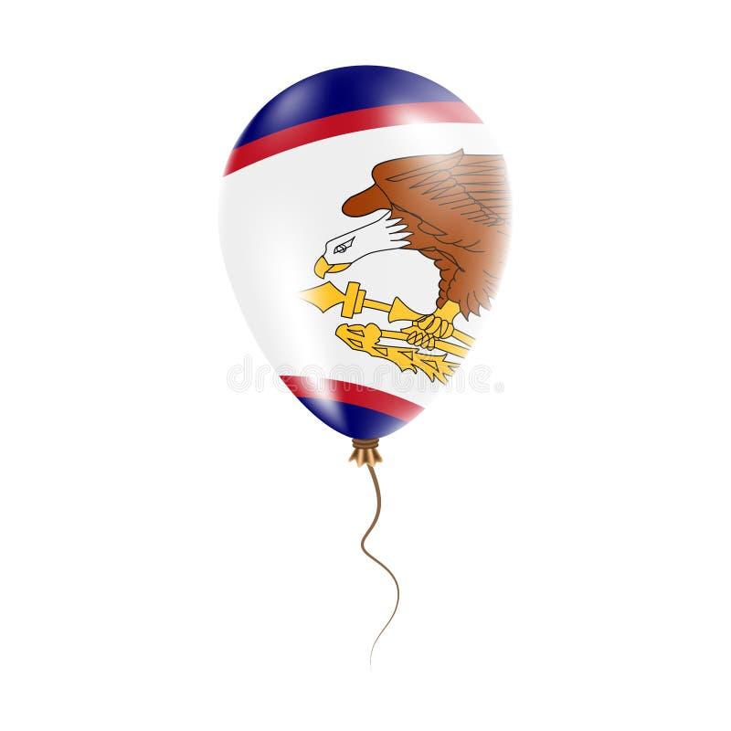 有旗子的美属萨摩亚气球 库存例证