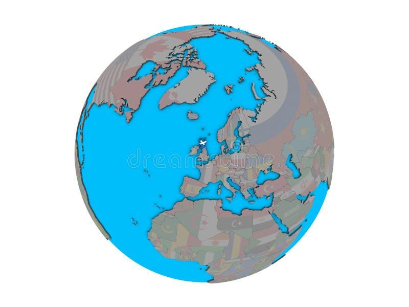 有旗子的苏格兰在被隔绝的地球 向量例证