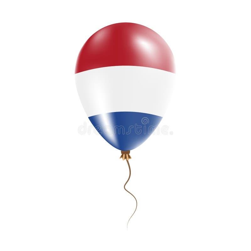 有旗子的荷兰气球 库存例证