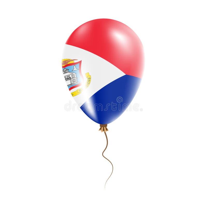 有旗子的荷属圣马丁气球 库存例证