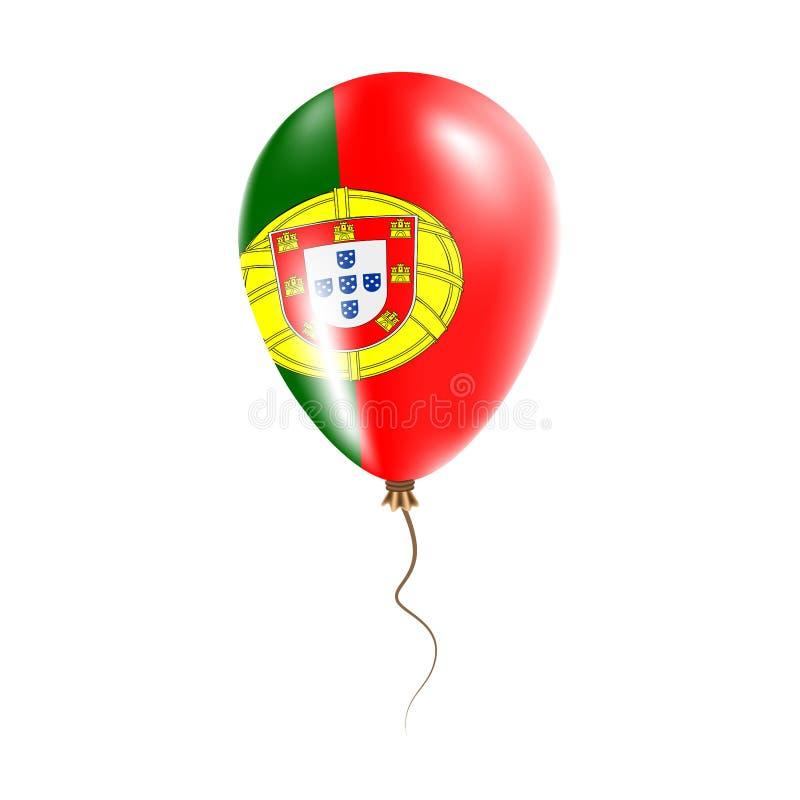 有旗子的葡萄牙气球 库存例证