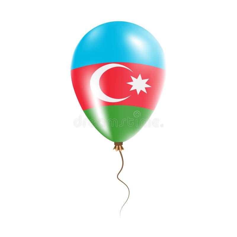 有旗子的阿塞拜疆气球 皇族释放例证