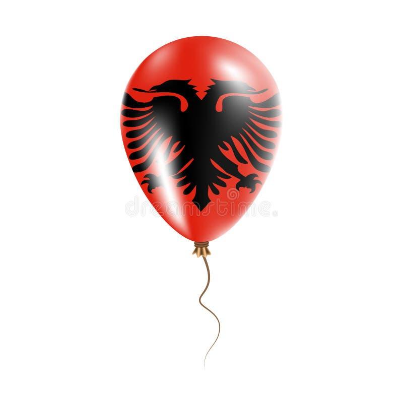 有旗子的阿尔巴尼亚气球 向量例证