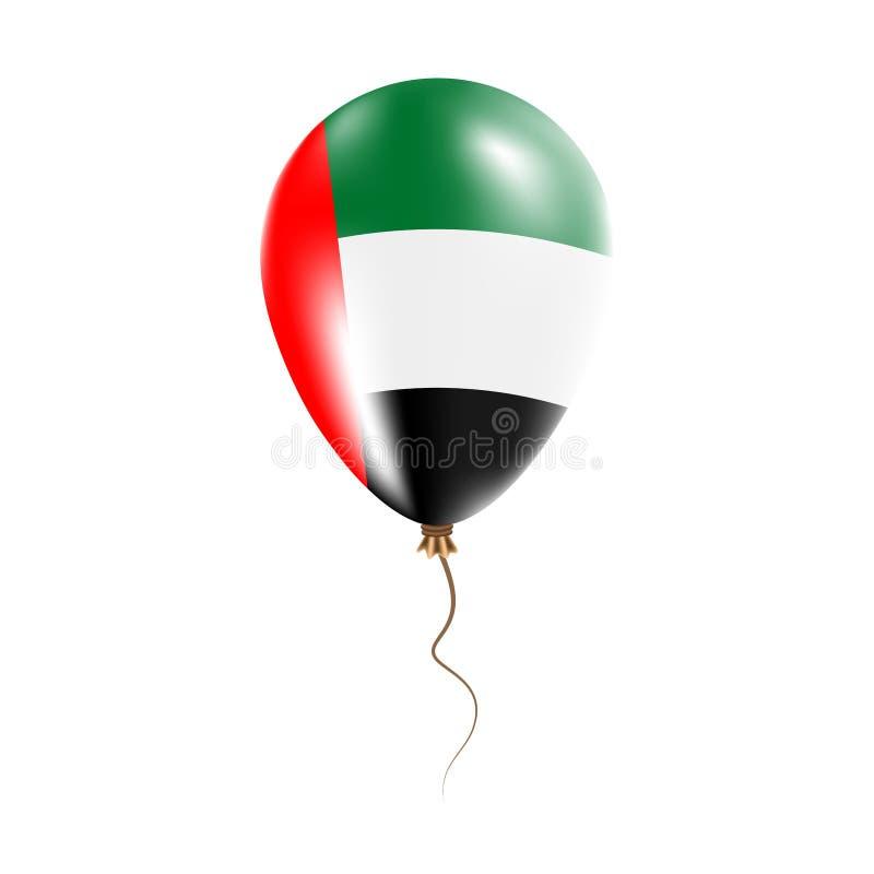 有旗子的阿联酋气球 库存例证