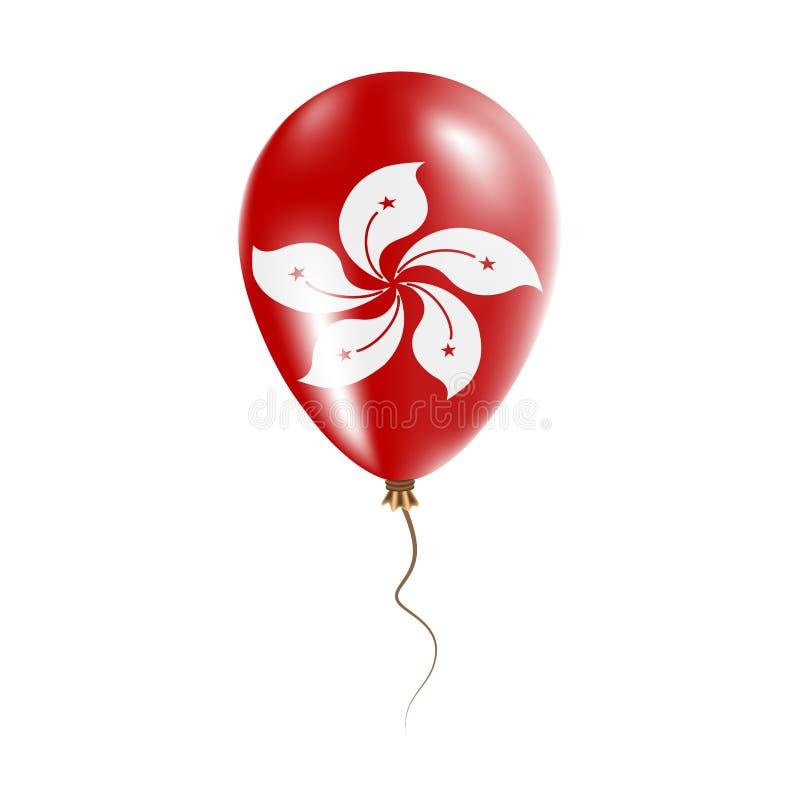 有旗子的香港气球 库存例证