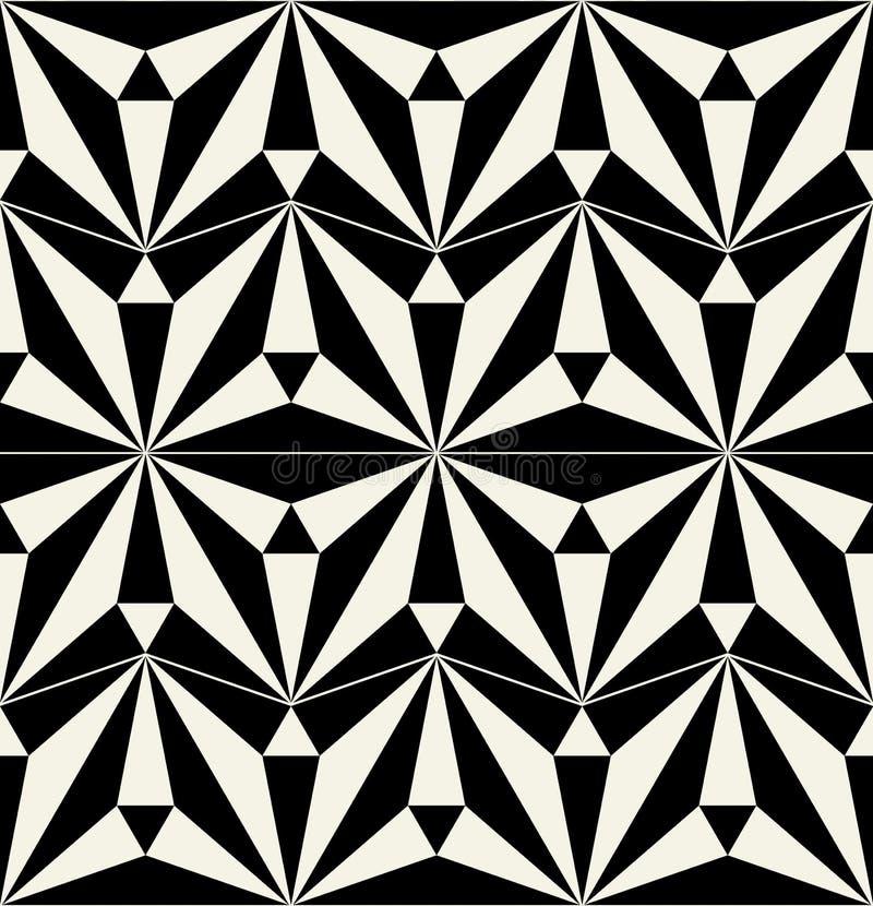 有无缝的样式的传染媒介陶瓷砖 向量例证