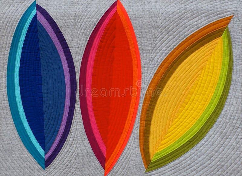 有明亮的颜色的当代被子 免版税图库摄影