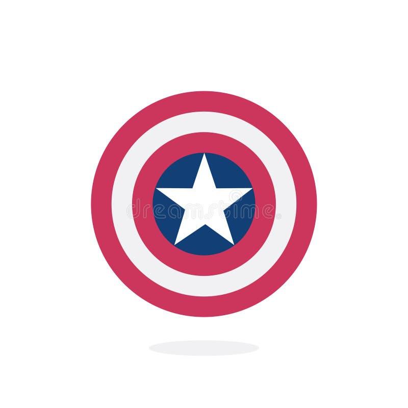 有星的盾,超级英雄盾 向量例证