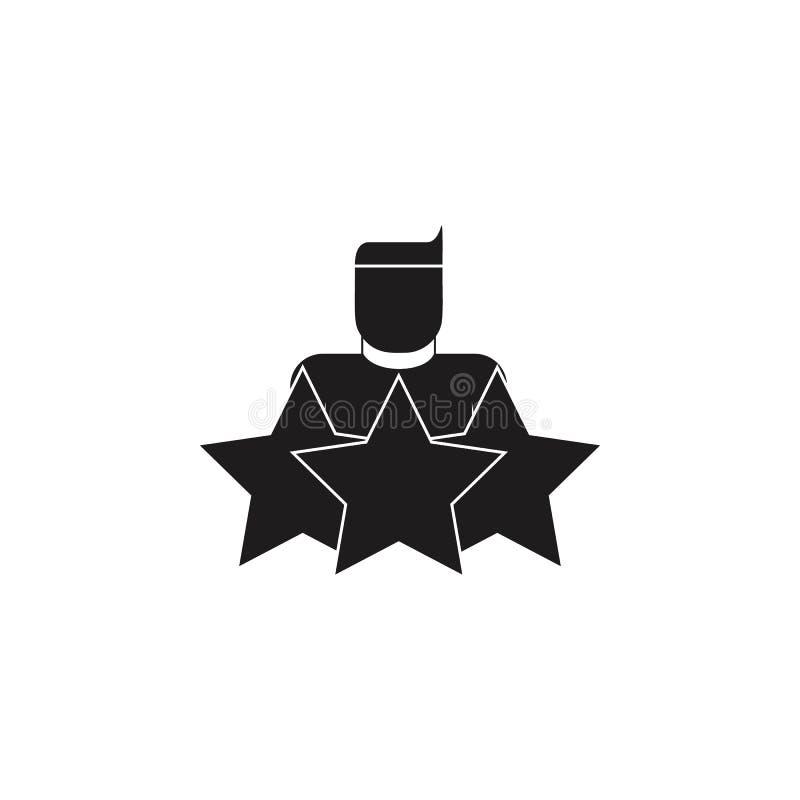 有星象的特级英雄 顶头狩猎和雇员象详细的象  优质质量图形设计 一collec 库存例证